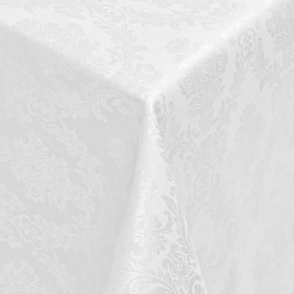 Tischdecken Jacquard-Gewebe mit Fleckschutz und Saum Toledo in Weiss
