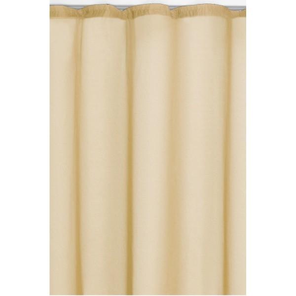 Vorhang Gardine Transparent Dekoschal mit Kräuselband in Creme-Beige