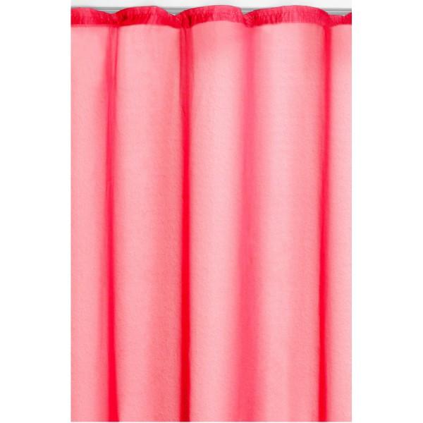 Vorhang Gardine Transparent Dekoschal mit Kräuselband in Pink