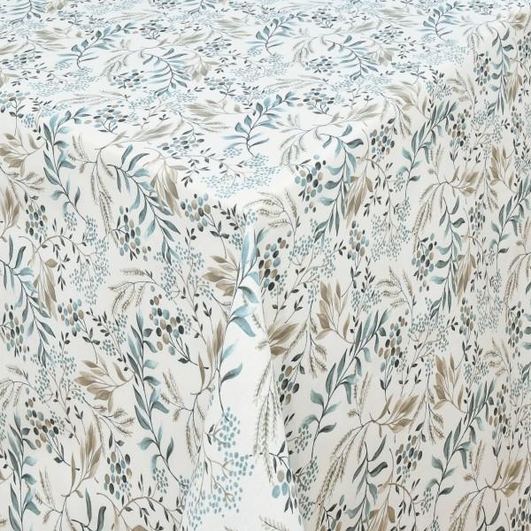 Tischdecken Marsala Baumwolle mit Fleckschutz in Blau