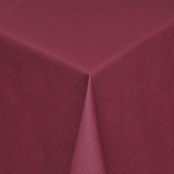 Tischdecken Verona Jaquard-Gewebe in Wein-Rot mit Fleckschutz