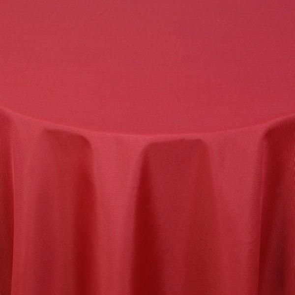 Tischdecken Damast Oval mit Saum Uni Wein-Rot