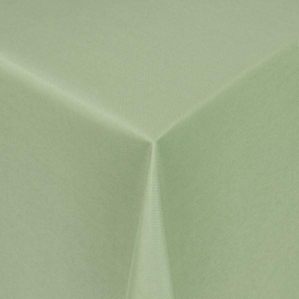 Tischdecken Damast Eckig mit Saum Uni Lind-Grün