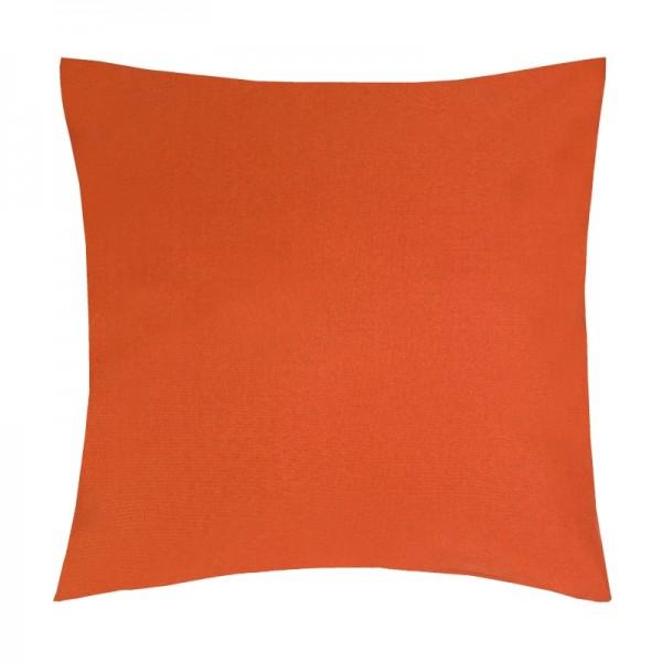 Kissenhülle Uni Sofa Kissen Deko in Orange