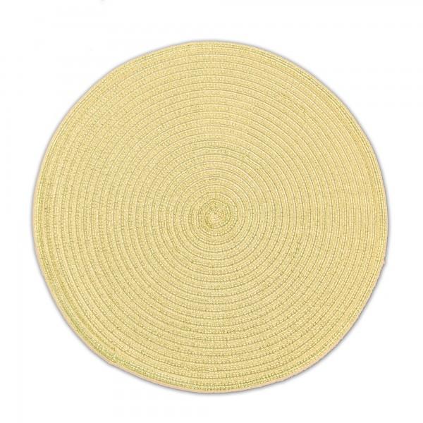 Tischsets 6er-Set Platzsets 38 cm Rund mit Glanzeffekt in Gold
