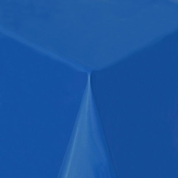 Tischdecke Abwaschbar Wachstuch Lebensmittelecht einfarbig Dunkel-Blau