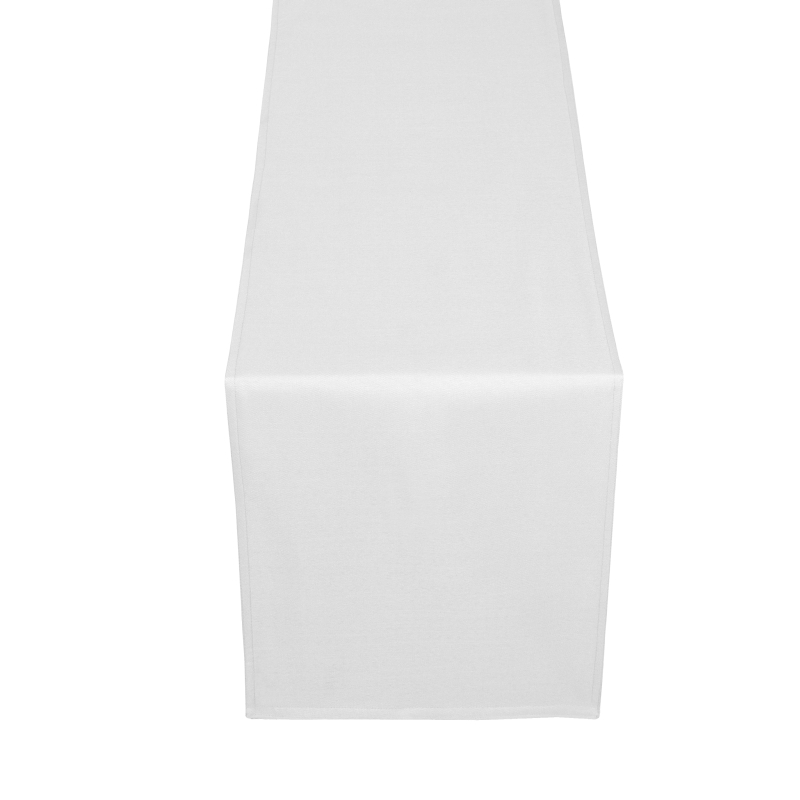 tischl ufer tischband uni in weiss. Black Bedroom Furniture Sets. Home Design Ideas