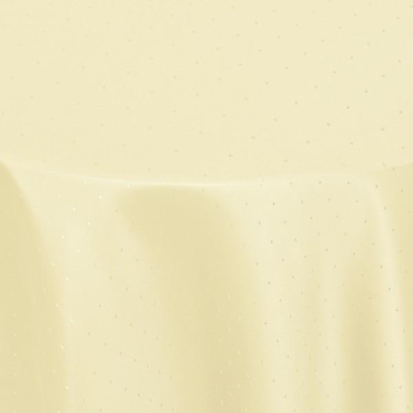 Tischdecken Damast Rund mit Saum Punkte Creme-Beige