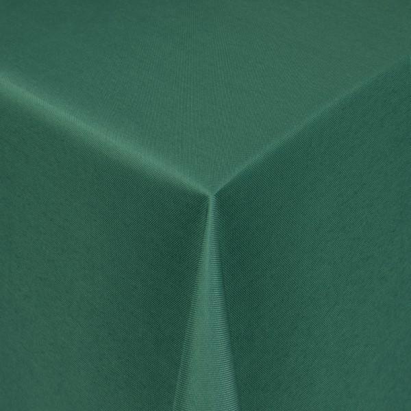 Tischdecken Damast Eckig mit Saum Uni Dunkel-Grün