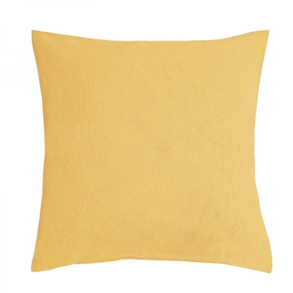 Kissenhülle Leinen-Optik Sofa Kissen Deko in Dunkel-Gelb