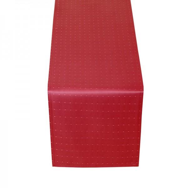 Tischläufer Tischband Punkte in Wein-Rot