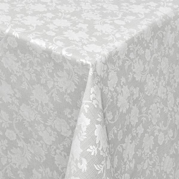 Tischdecken Jacquard-Gewebe mit Fleckschutz und Saum Badalona in Hell-Grau