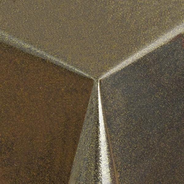 Schutz Tischdecke transparent Glitter-Folie mit Metallic-Farbpigmenten in Gold