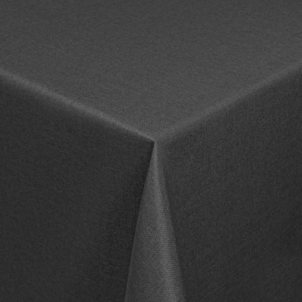 Tischdecken Damast Eckig mit Saum Leinen-Optik Grau