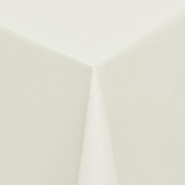 Tischdecken Jacquard-Gewebe mit Fleckschutz und Saum Alicante in Creme-Champagne