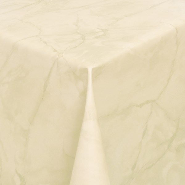 Tischdecke Abwaschbar Wachstuch Lebensmittelecht Marmor Beige