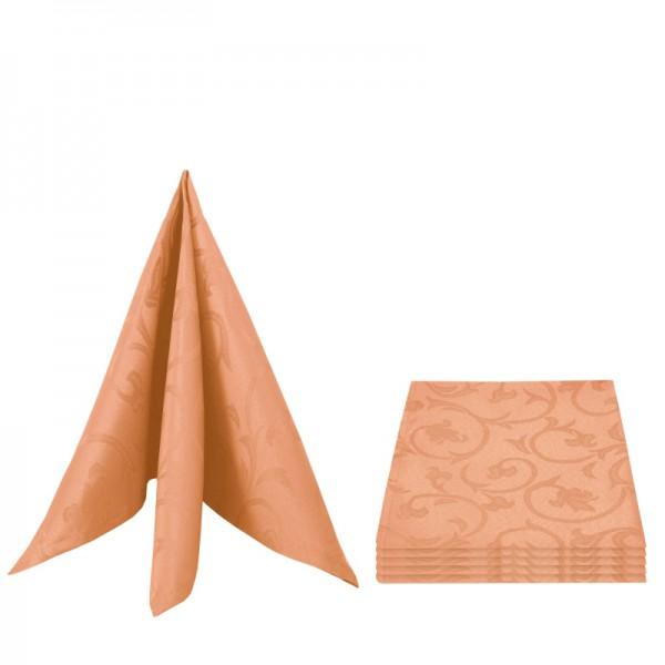 Servietten Damast Barock 50x50 Apricot (6er Pack)