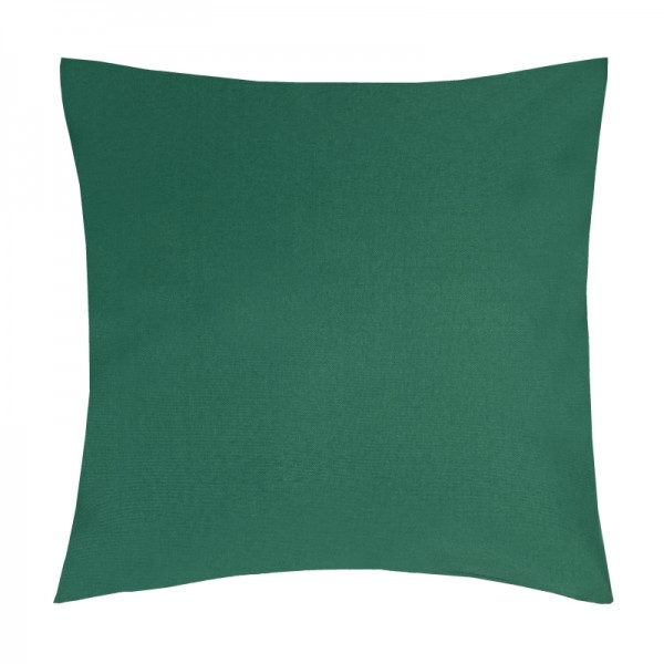 Kissenhülle Uni Sofa Kissen Deko in Dunkel-Grün