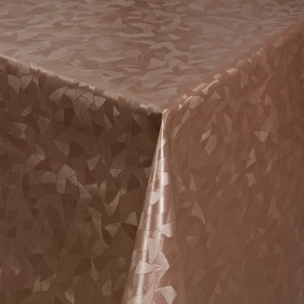 Tischdecke Abwaschbar Wachstuch Relief Dreiecke Braun im Wunschmaß