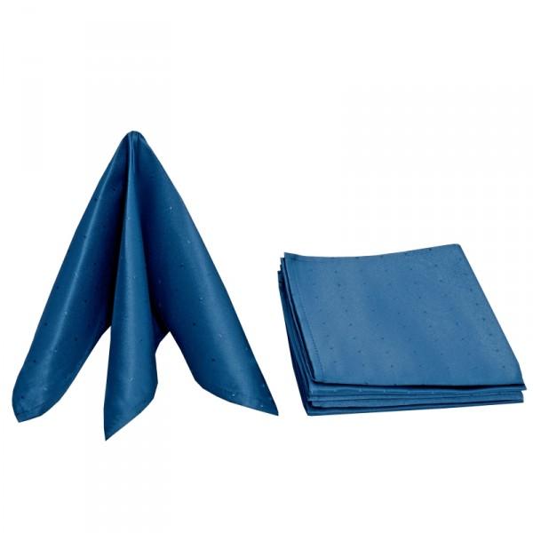 Servietten Damast Punkte 50x50 Dunkel-Blau (6er Pack)