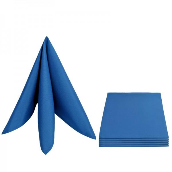 Servietten Damast Uni 50x50 Dunkel-Blau (6er Pack)
