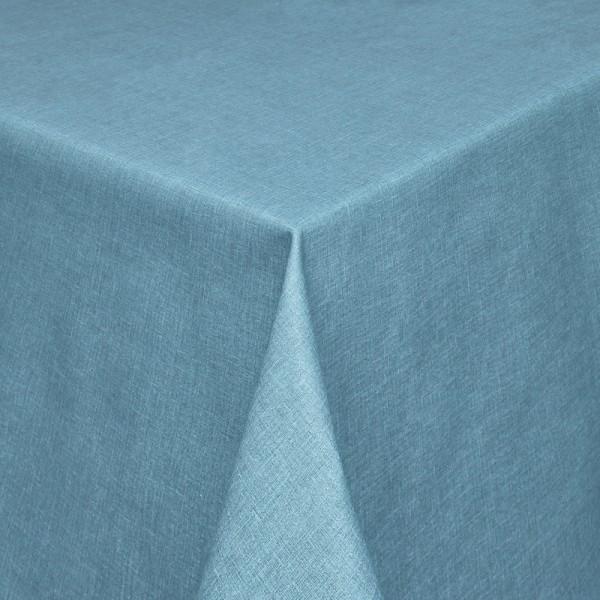 Tischdecken Olbia Jaquard-Gewebe in Jeans-Blau mit Fleckschutz
