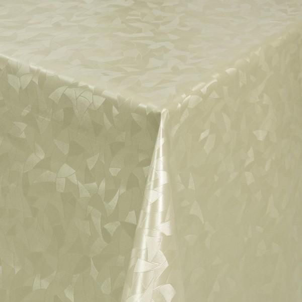 Tischdecke Abwaschbar Wachstuch Relief Dreiecke Beige im Wunschmaß