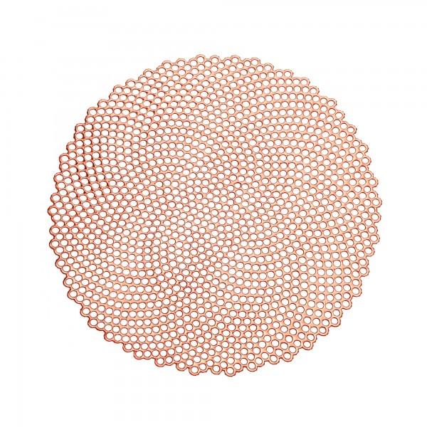 Tischsets 6er-Set Platzsets 38 cm Rund Elegance in Kupfer