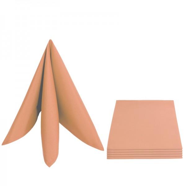 Servietten Damast Uni 50x50 Apricot (6er Pack)