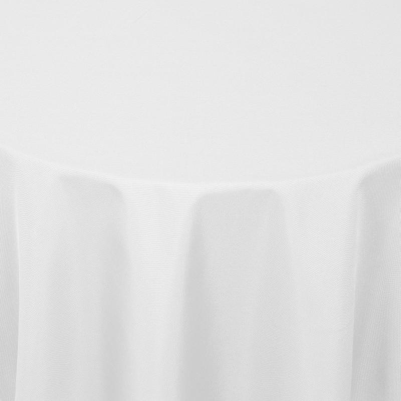 tischdecken damast oval mit saum uni weiss. Black Bedroom Furniture Sets. Home Design Ideas