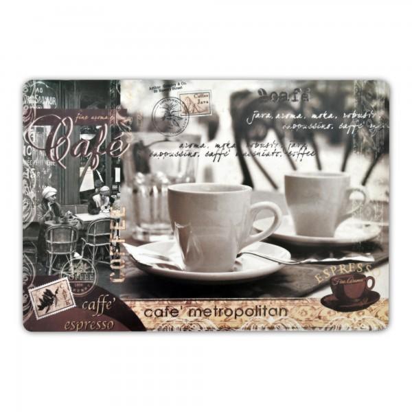 Tischsets Kaffee Motiv 6er-Set Platzsets 30x45 cm