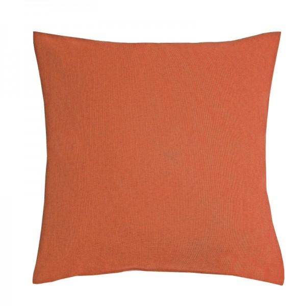 Kissenhülle Leinen-Optik Sofa Kissen Deko in Orange