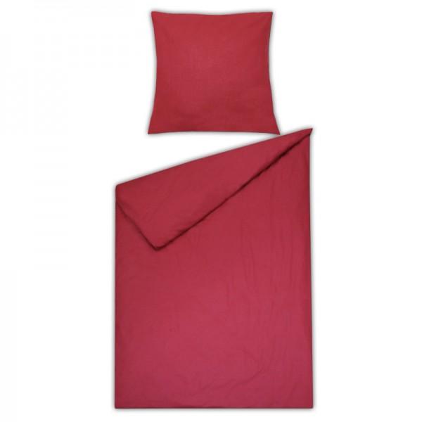Bettwäsche Moderno Renforcé einfarbig in Rot