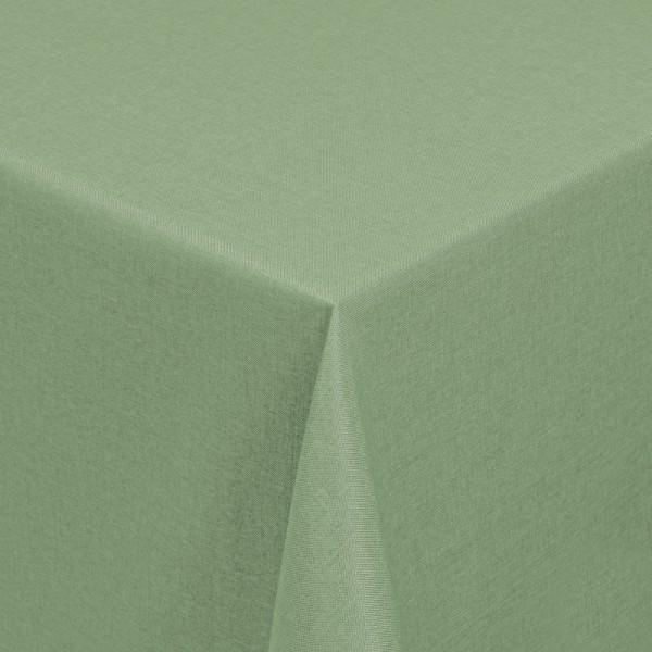 Tischdecken Damast Eckig mit Saum Leinen-Optik Lind-Grün