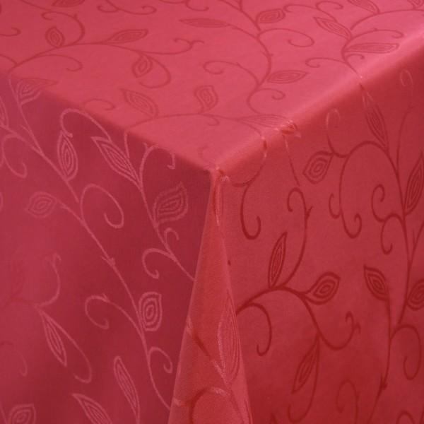 Tischdecken Jacquard-Gewebe mit Fleckschutz und Saum Romantik in Rot