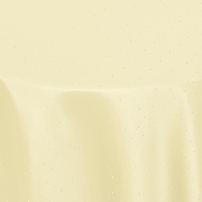 tischdecken damast oval mit saum punkte creme beige. Black Bedroom Furniture Sets. Home Design Ideas