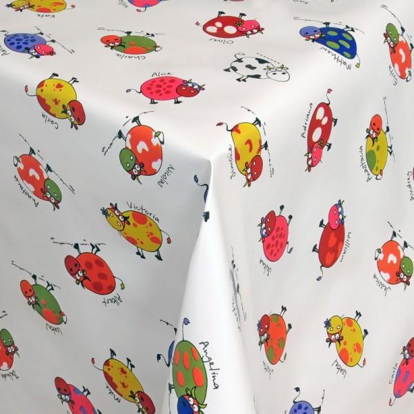 Tischdecke Abwaschbar Wachstuch bunte Kühe Motiv im Wunschmaß