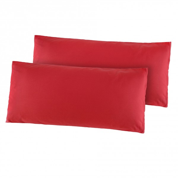 Kissenhüllen Renforce 2er Pack 40x80 cm in Rot