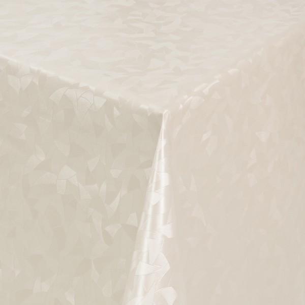 Tischdecke Abwaschbar Wachstuch Relief Dreiecke Creme im Wunschmaß