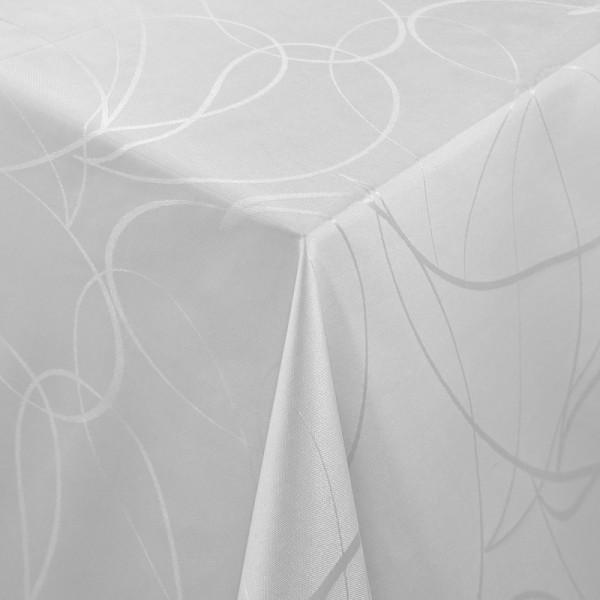 Tischdecken Aversa Jaquard-Gewebe in Grau mit Fleckschutz