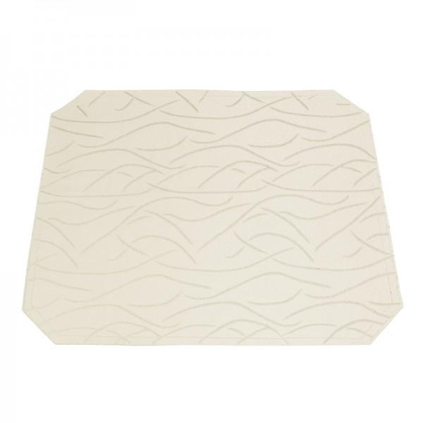 Tischsets Platzsets Streifen 40x50 cm in Creme-Champanger