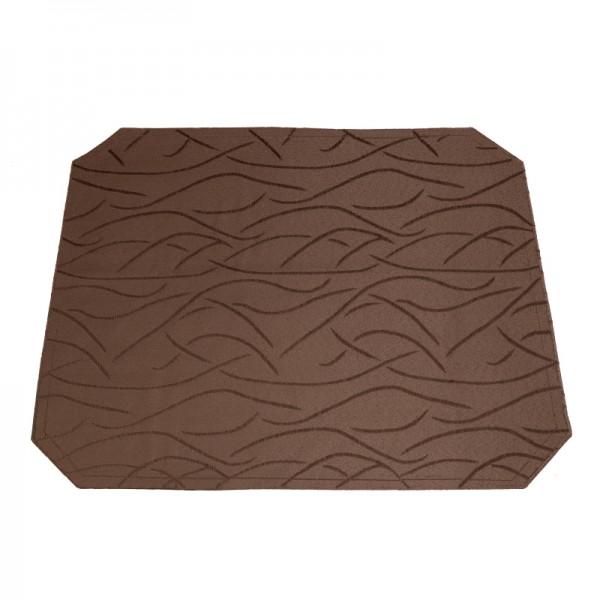 Tischsets Platzsets Streifen 40x50 cm in Dunkel-Braun
