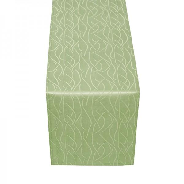 Tischläufer Tischband Streifen in Lind-Grün