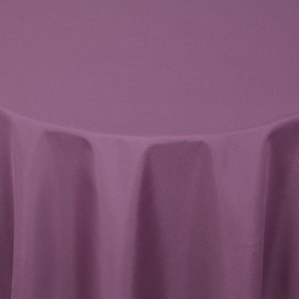 Tischdecken Damast Rund mit Saum Uni Lila