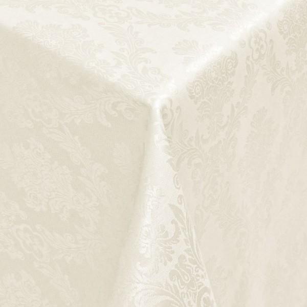 Tischdecken Jacquard-Gewebe mit Fleckschutz und Saum Toledo in Creme-Champagner
