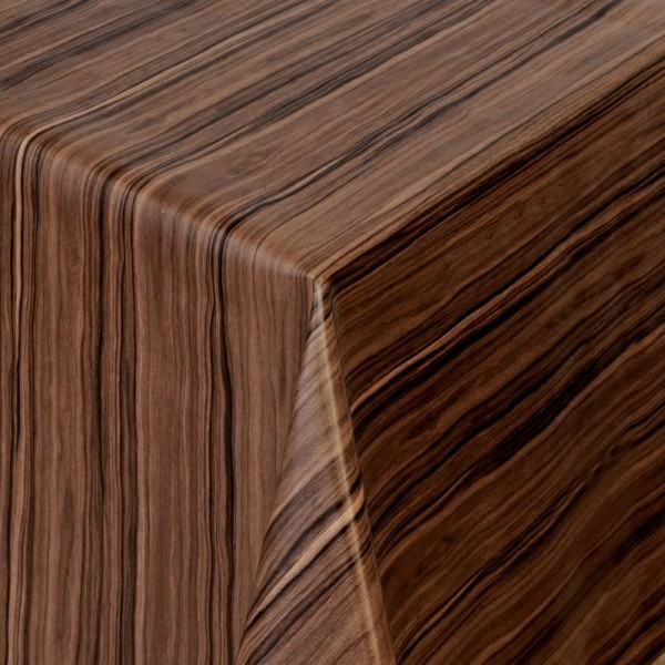 Tischdecke Abwaschbar Wachstuch Holz Struktur Dunkel-Braun im Wunschmaß