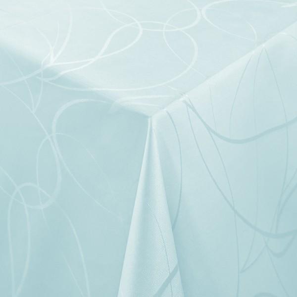 Tischdecken Aversa Jaquard-Gewebe in Hell-Blau mit Fleckschutz