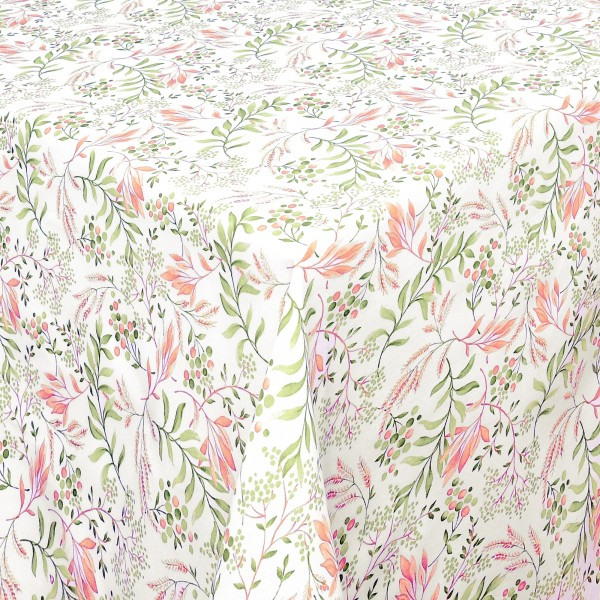 Tischdecken Marsala Baumwolle mit Fleckschutz in Rosa-Grün