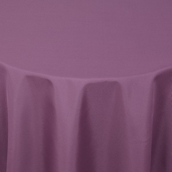 Tischdecken Damast Oval mit Saum Uni Lila