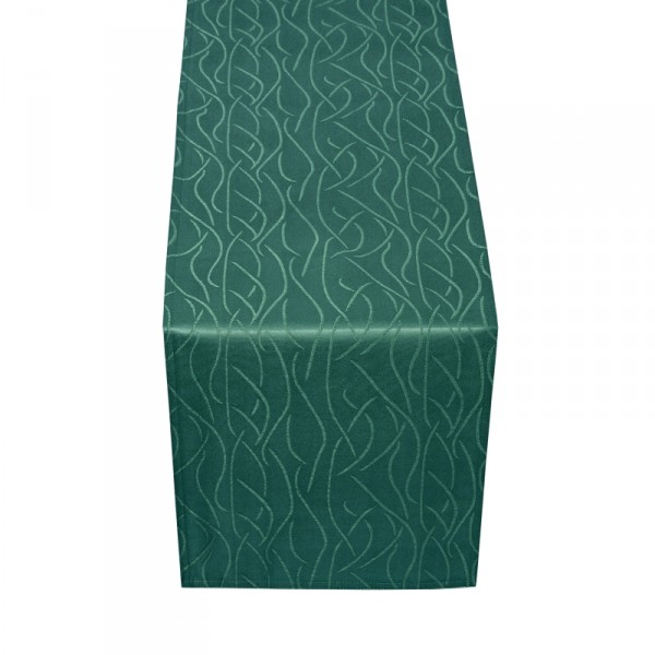 Tischläufer Tischband Streifen in Dunkel-Grün